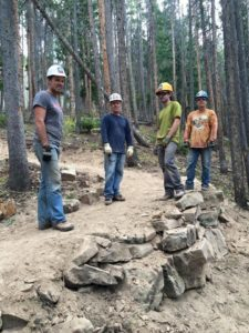 Who needs CrossFit when you can move 2 tons of rock to build a switchback with VVMBA?